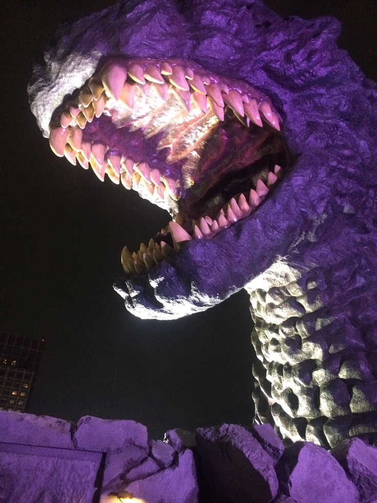 Visit The Godzilla Head In Shinjuku Up Close Some Japan